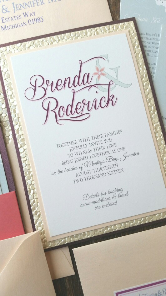 custom gallery pocket layered invitations cordial punch press