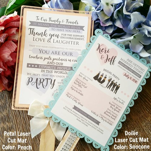 wedding ceremony program fan thank you cordial punch press