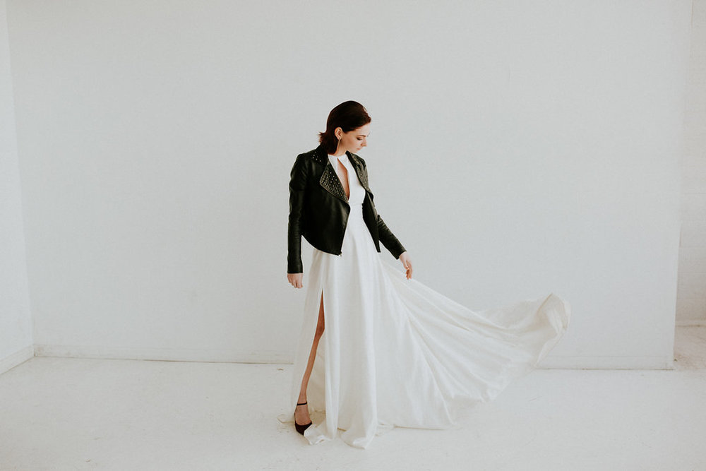 Modern Alternative Bride, Fashion by Detroit Bridal House