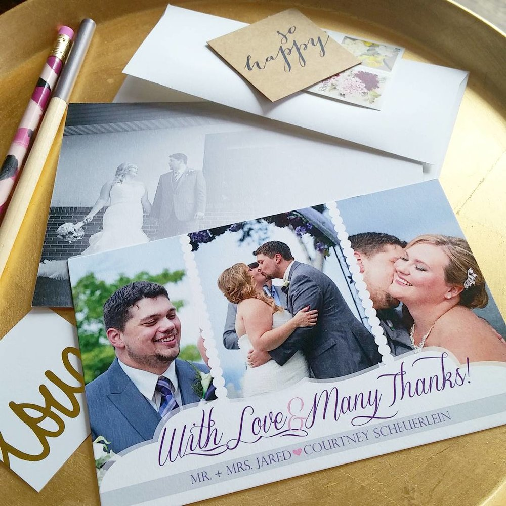 Coordinating Thank You Cards, Rustic Outdoor Wedding Invitation by Cordial Punch Press