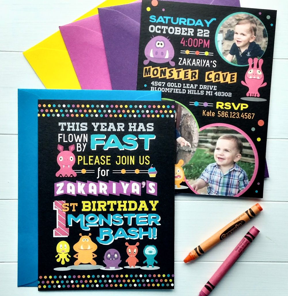 Monster Bash Birthday Invitation