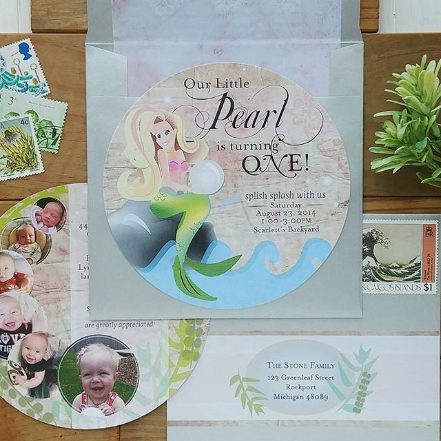 Splish Splash Mermaid Invitation Set