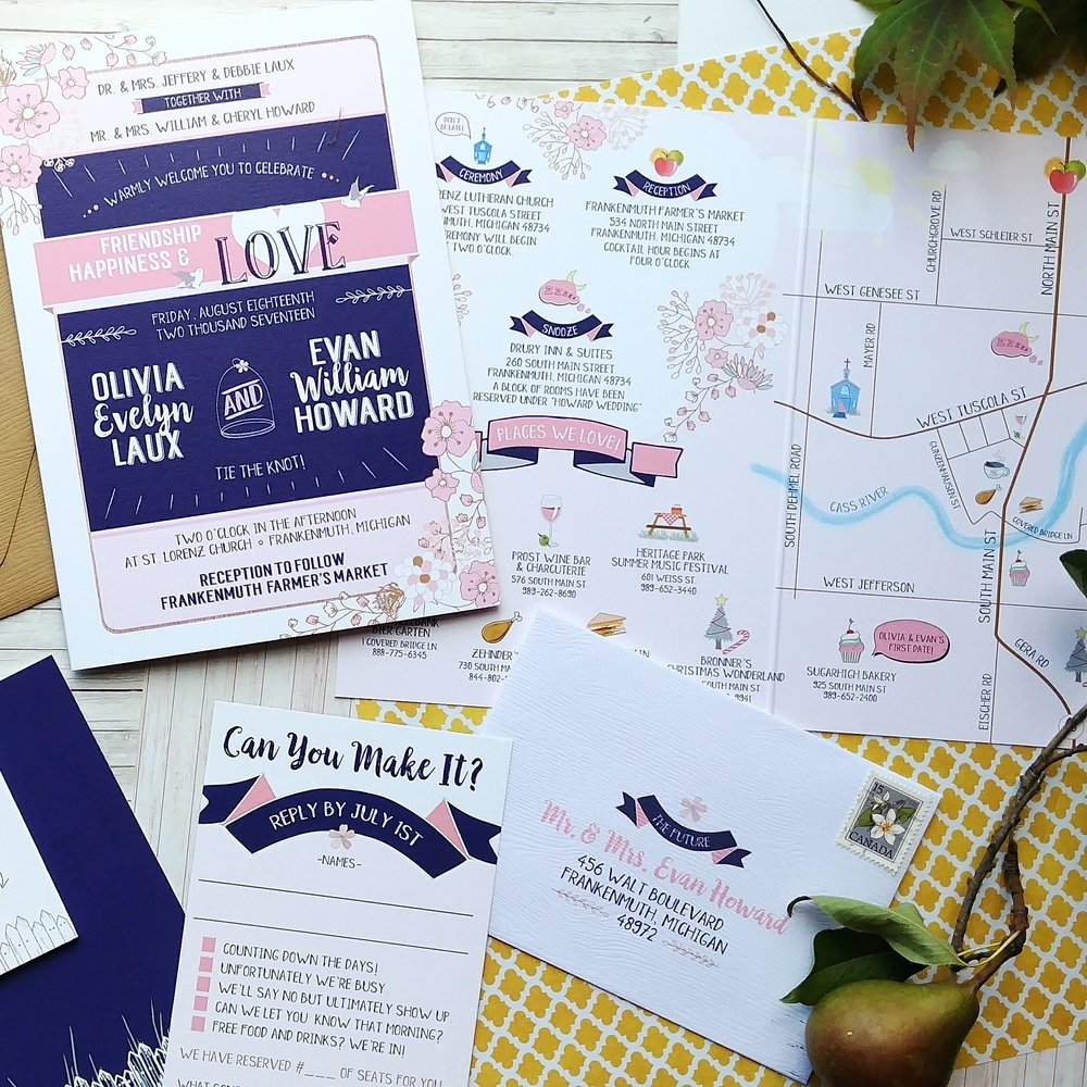 Navy & Peach Booklet Downtown Market Wedding Invitation Suite (1).jpg