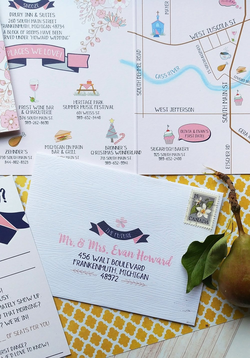 Navy & Peach Booklet Downtown Market Wedding Invitation Suite (4).jpg