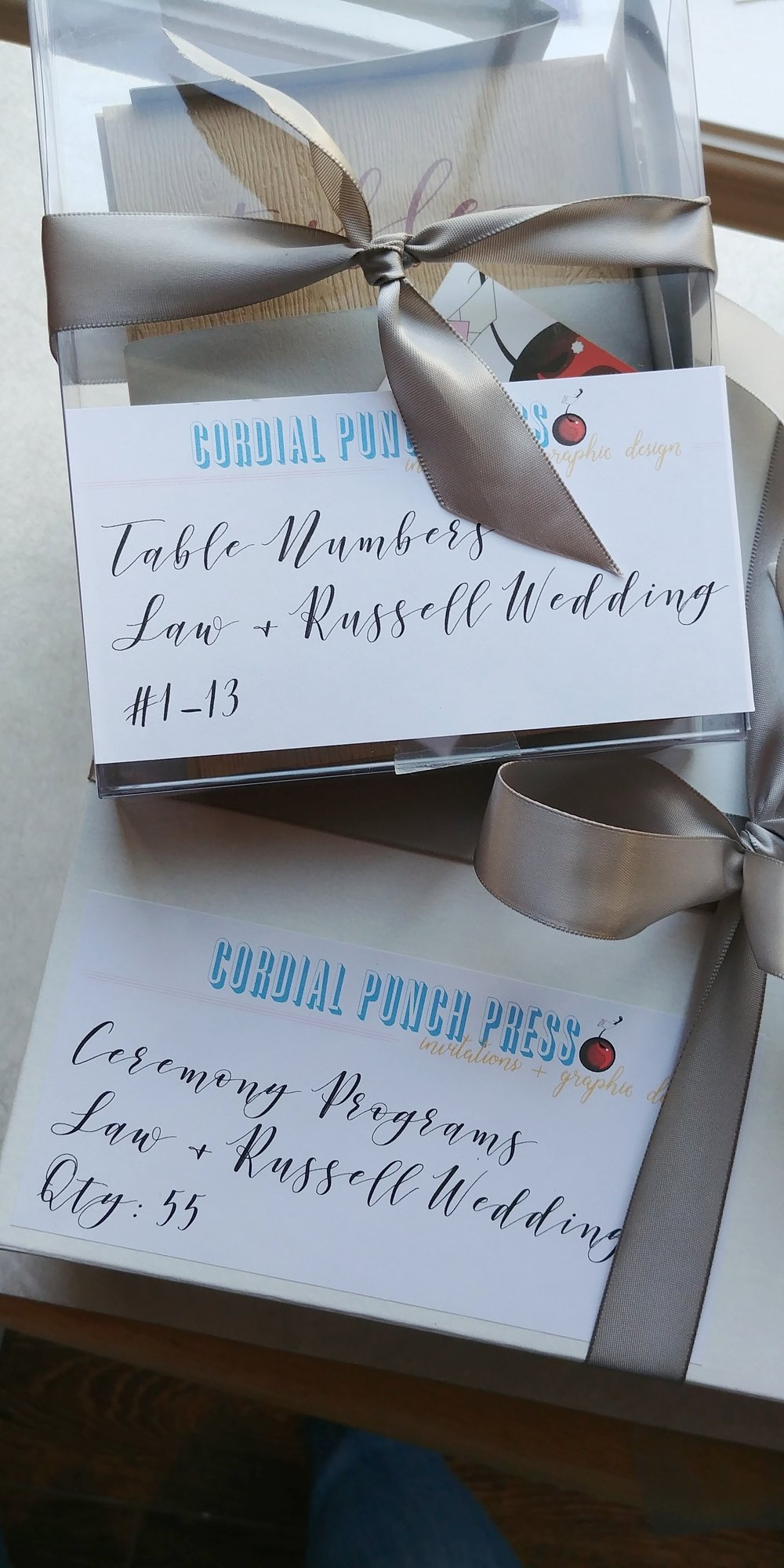 Wedding Essentials, Programs and Table Numbers, by Cordial Punch Press