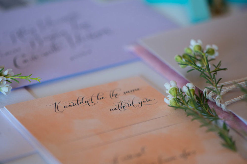 Boho Springtime Romantic Wedding Suite by Cordial Punch Press