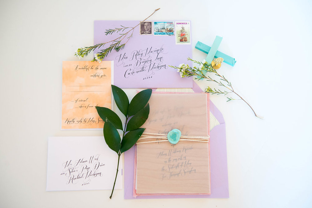 Boho Springtime Booklet Invitation Suite