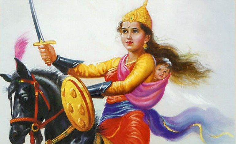 Jhansi Ki Rani Lakshmi Bai, Painter Unknown