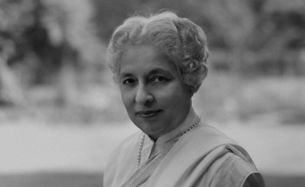 Vijaya Lakshmi Pandit, photographed by Rex Coleman for Baron Studios