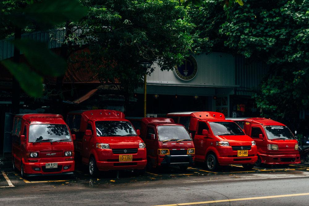 taxi's in Ao Nang, Thailand