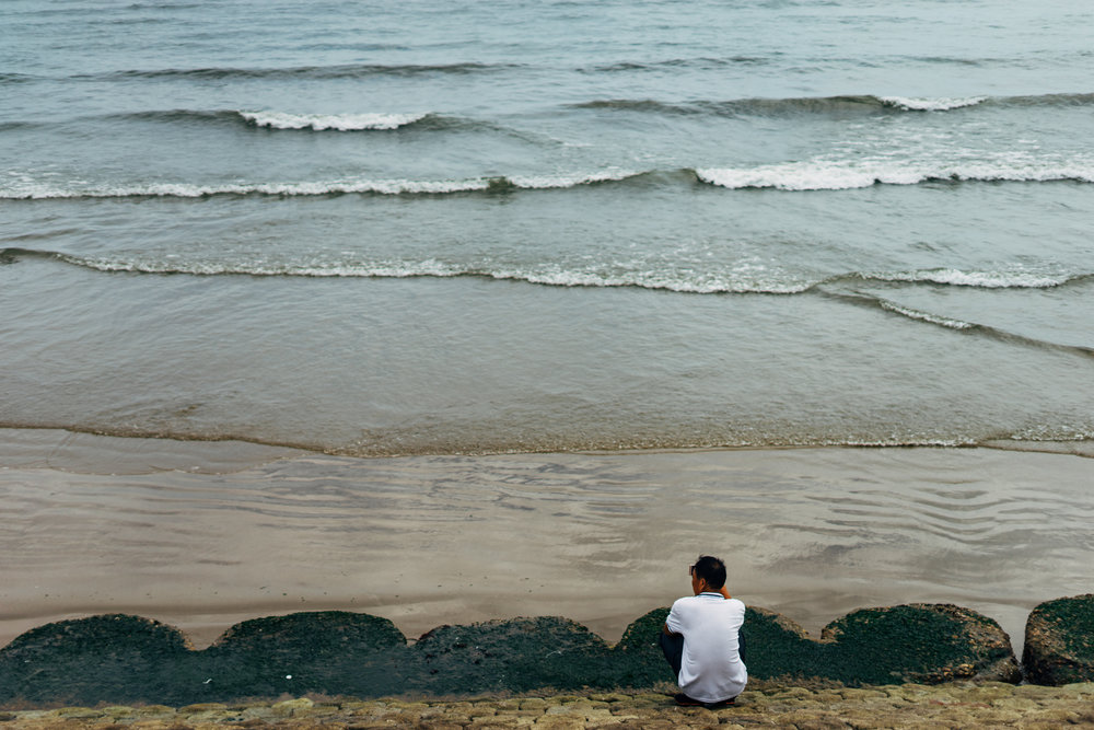 listening to waves