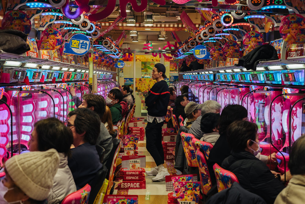 pachinko in Tokyo, Japan