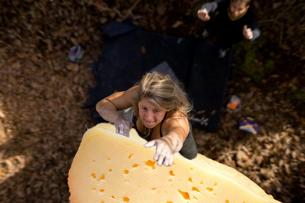 Katherine Vanderford climbing that Swiss goodness