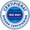 Picture of Swedish certification ISO 9001