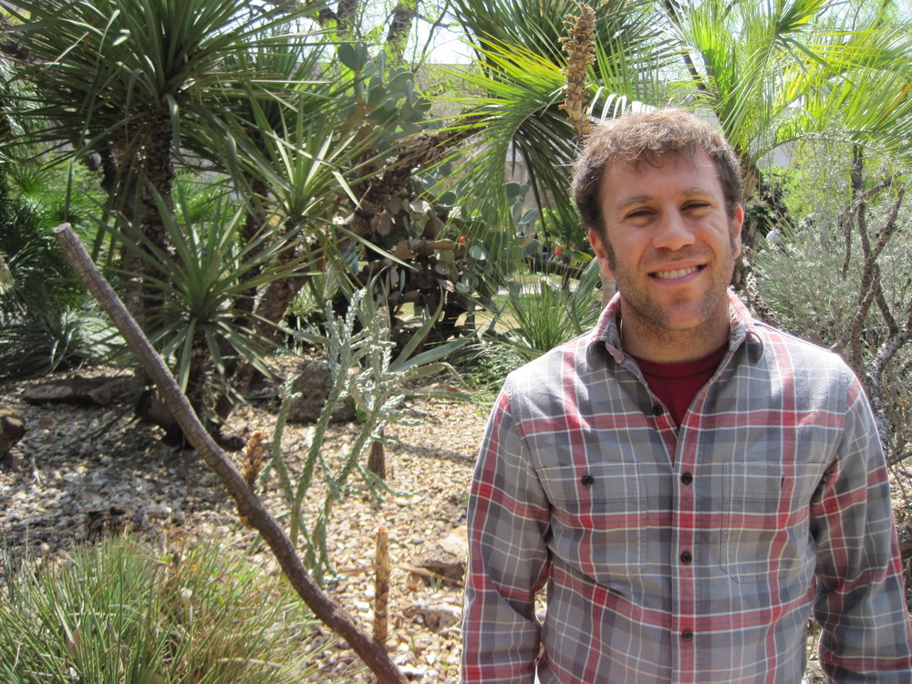 Jim Cohen among South Texas plants