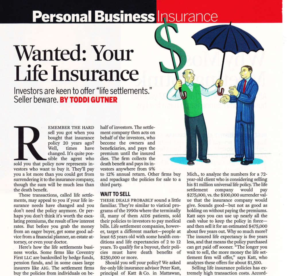 Wanted: Your life insurance