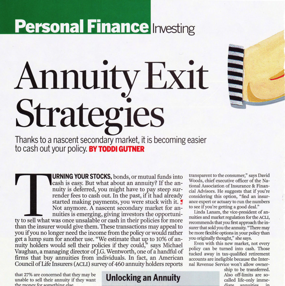 Annuity exit strategies
