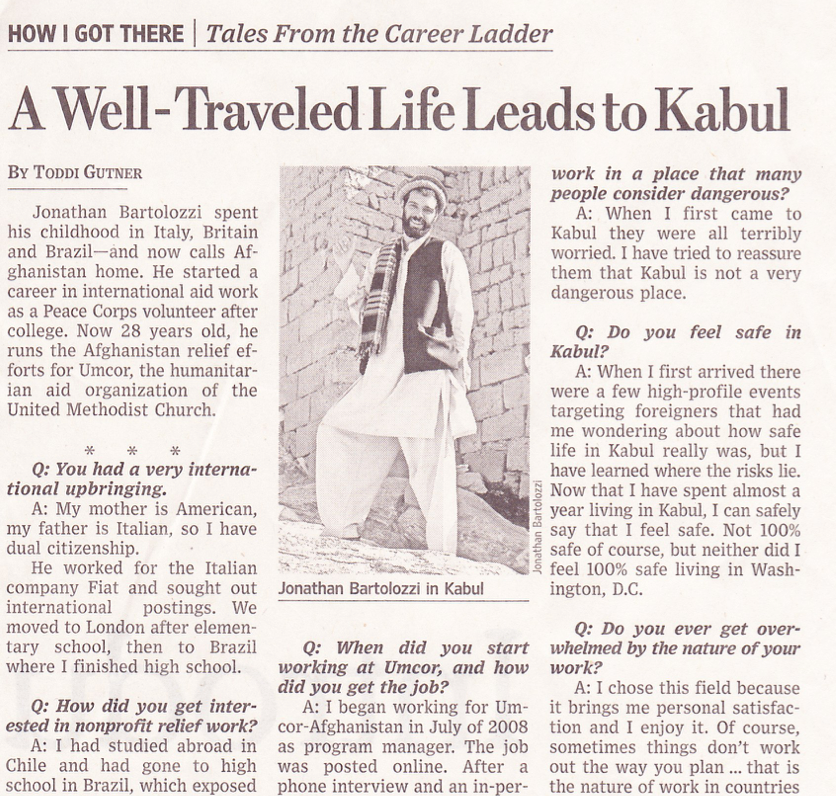 A well-traveled life leads to Kabul