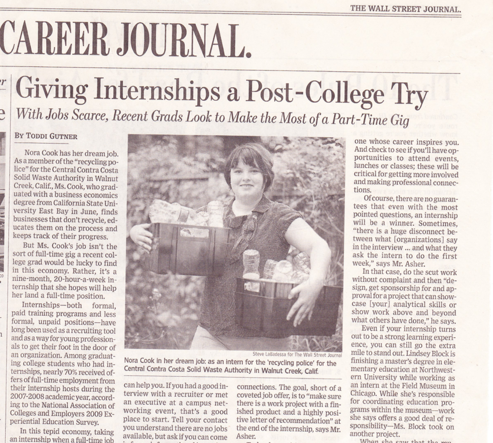 Giving internships a post-college try