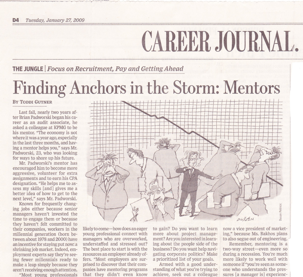 Finding anchors in the storm: Mentors