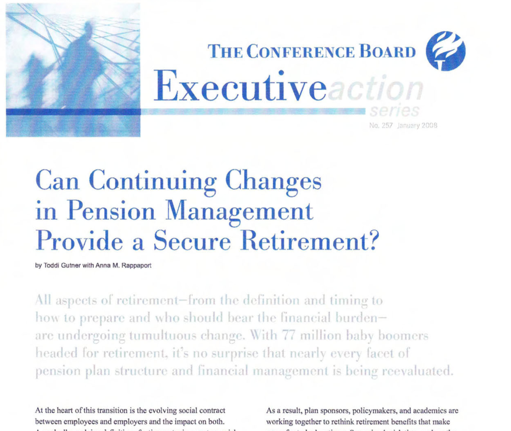 Can continuing changes in pension management provide a secure recruitment?