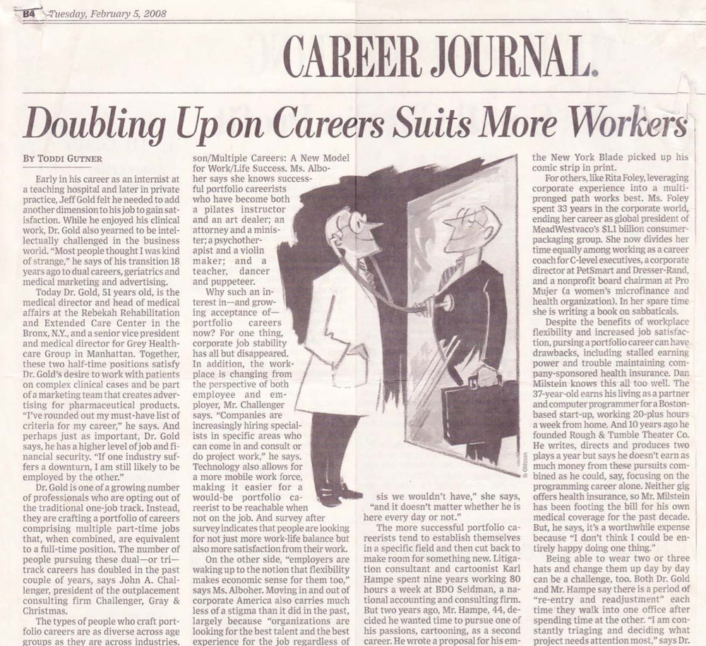 Doubling up on career suits more workers