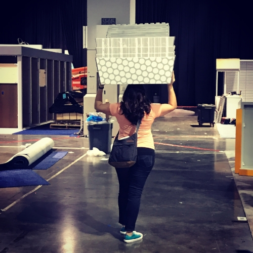 That's a wrap! When you're a scrappy start-up, even the CEO does manual labor.