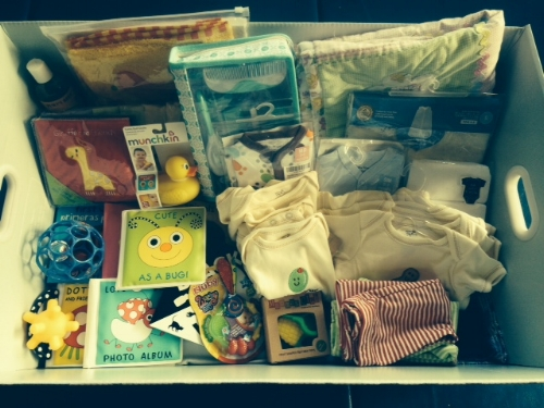 A sample Welcome Baby Box