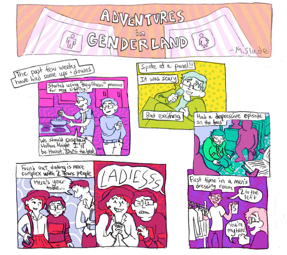Adventures In Genderland - An ongoing webcomic series about my sometimes-awkward, sometimes-silly experiences exploring gender