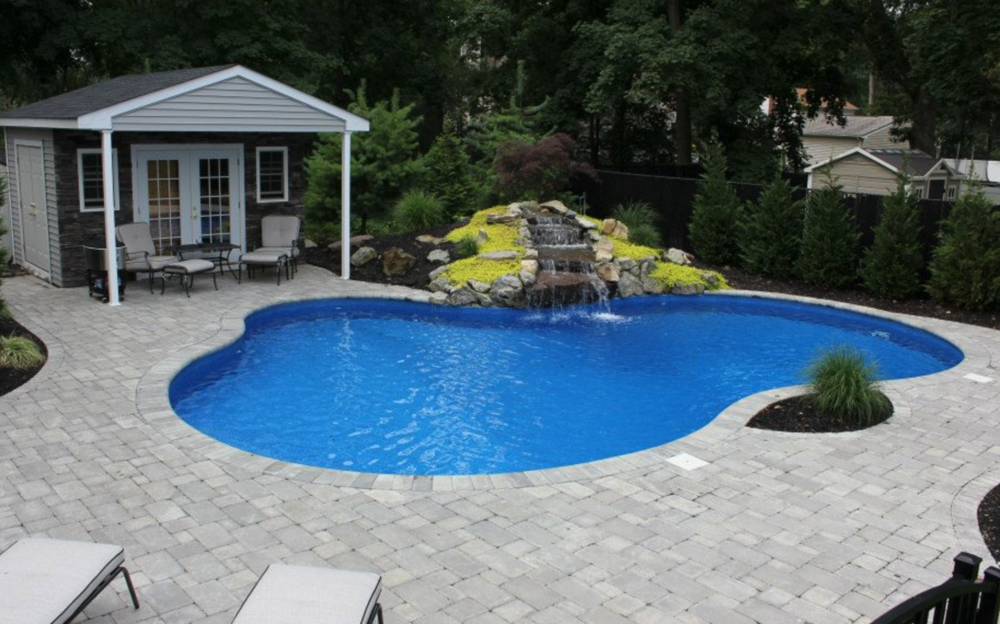 Gunite Swimming Pool Design in Riverhead, NY