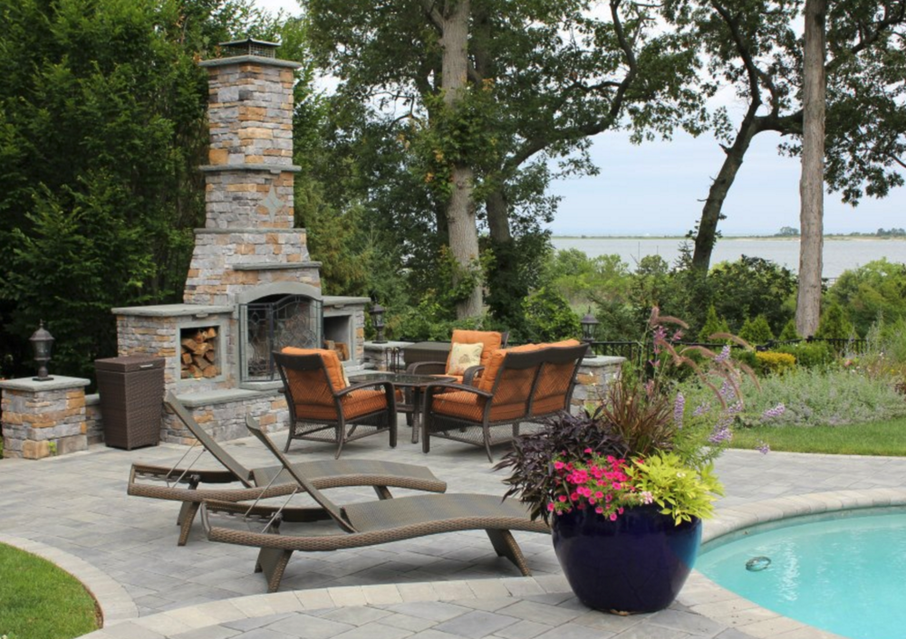 outdoor fireplace Glen Cove, NY, East Hampton, NY