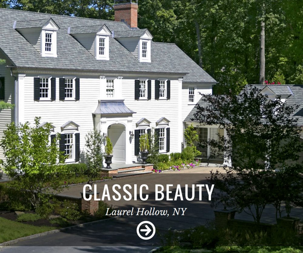 Classic landscape design with innovative outdoor lighting in Brookville, NY