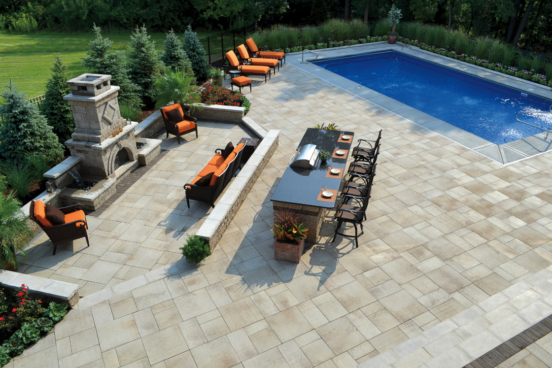 Unilock Patio Pavers For Durable Yet Stylish Landscape Design On Long Island