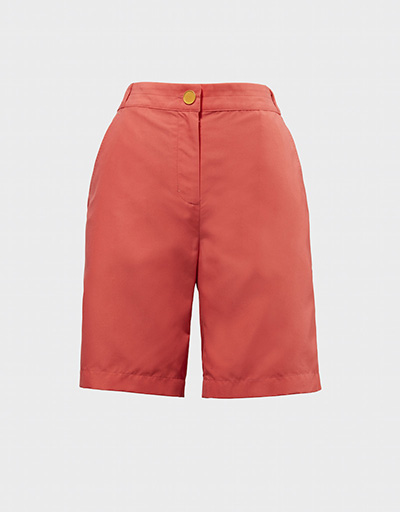 salmon colored women's golf shorts