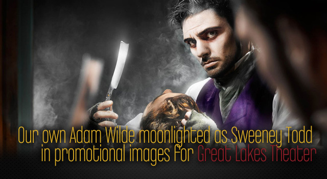 TRG Reality's Adam Wilde in Sweeney Todd Promo images.