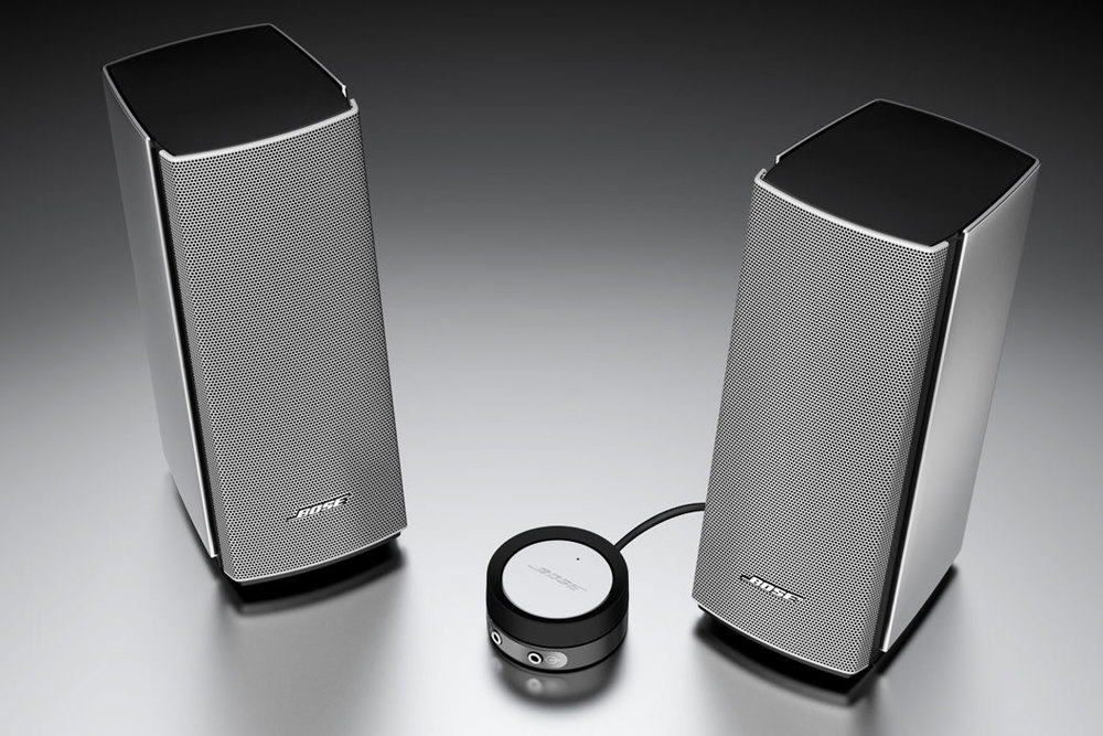 professional computer generated image of bose speakers
