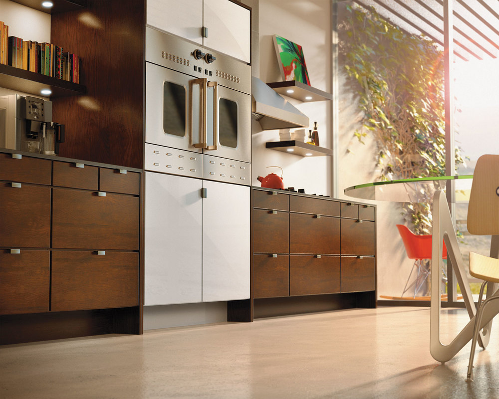 cgi photo of kitchen area