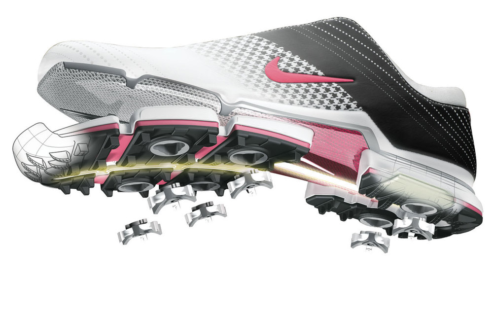 professional cgi photo of nike golf shoe