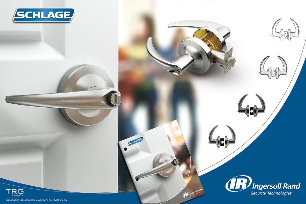 computer generated imagery of door handle