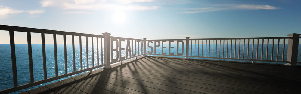 cgi photo of railing with text and ocean