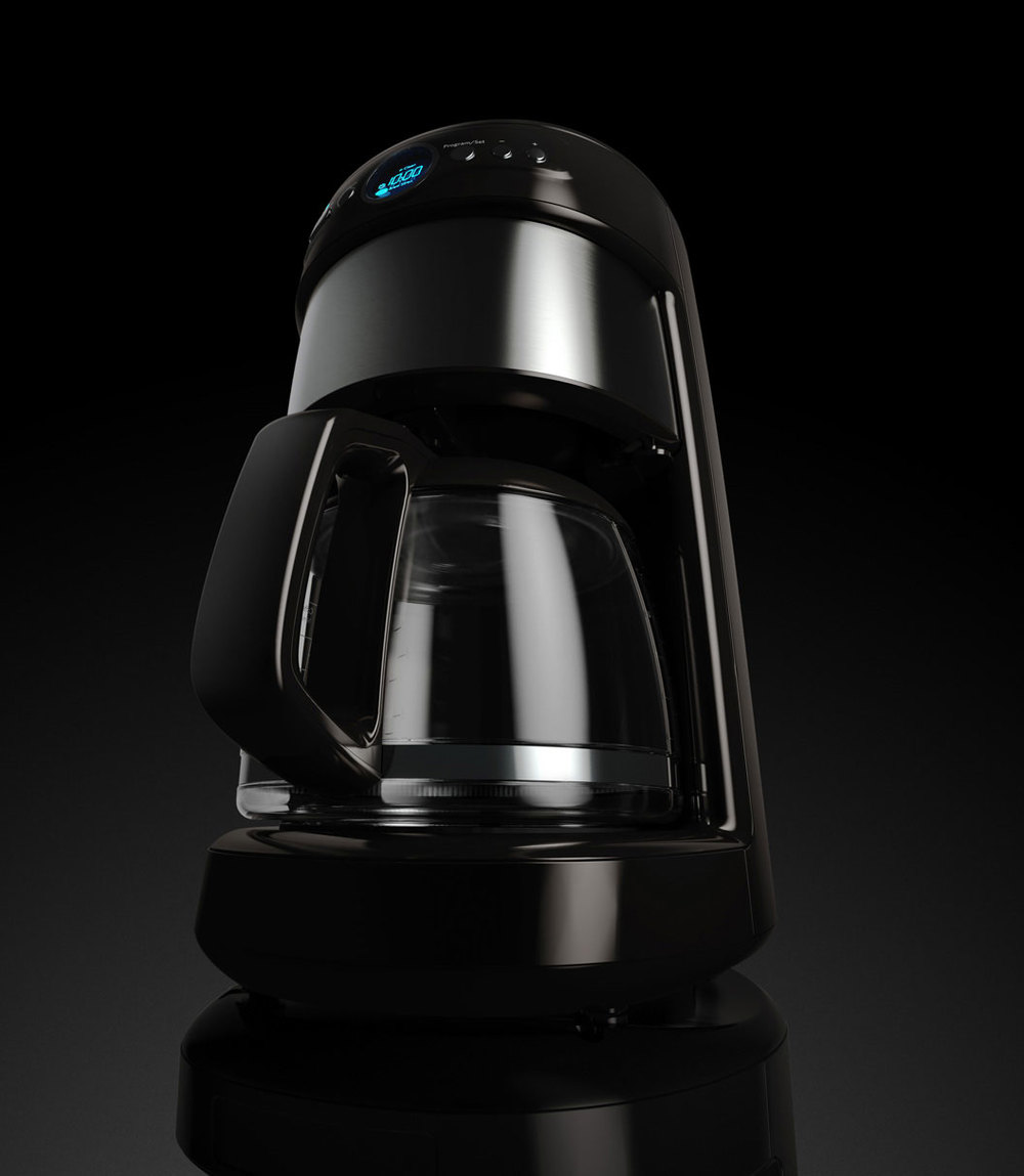 computer generated image of coffee pot