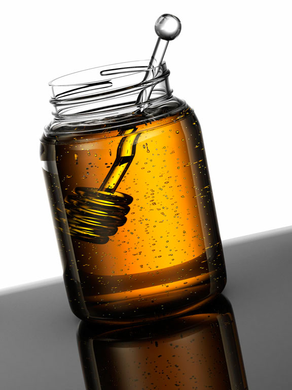 computer generated image of jar of honey