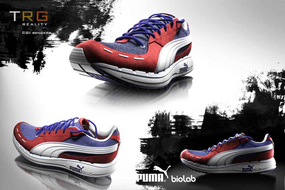 professional cgi images of puma sneakers