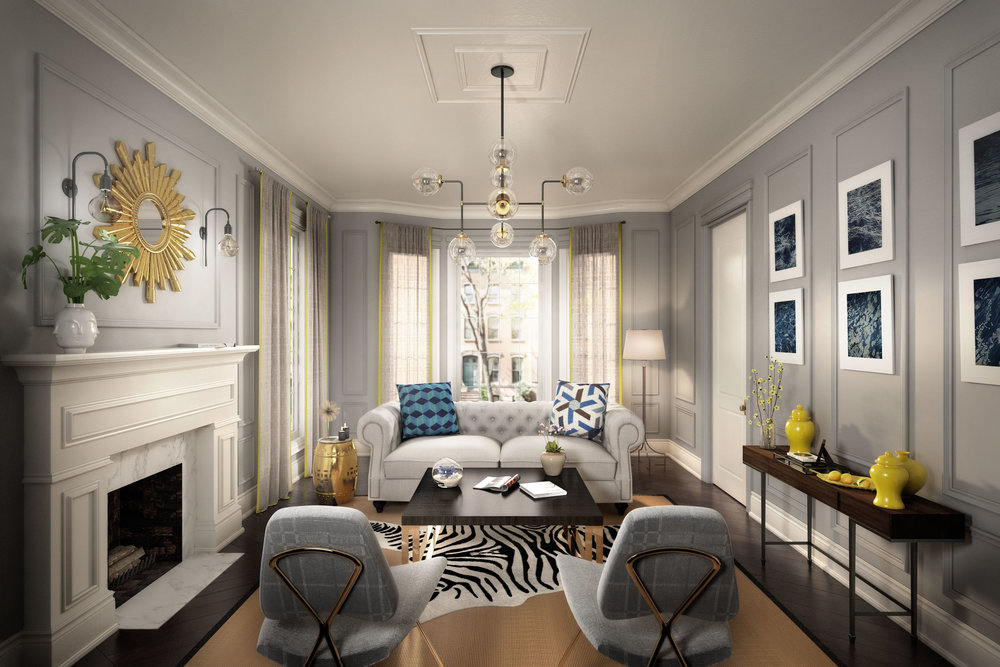 professional cgi of living area