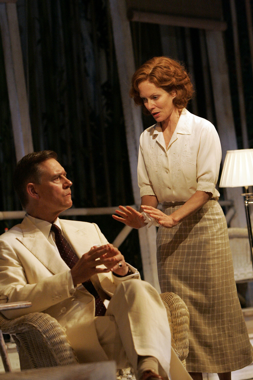 Anthony Andrews and Jenny Seagrove - onstage in 'The Letter'