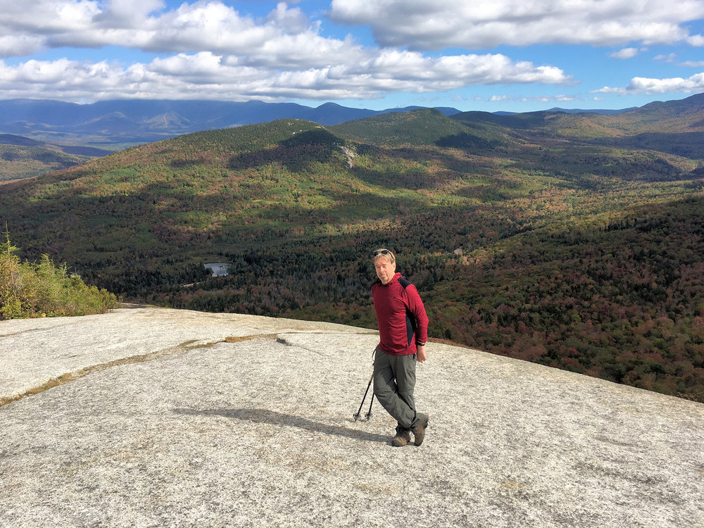 On Middle Sugarloaf Mountain.  Mt. Washington is atop that distant range to the left, hidden by clouds.