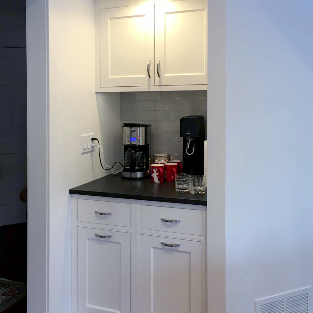 Coffee Station,Rollouts for Dog Food and Recycling