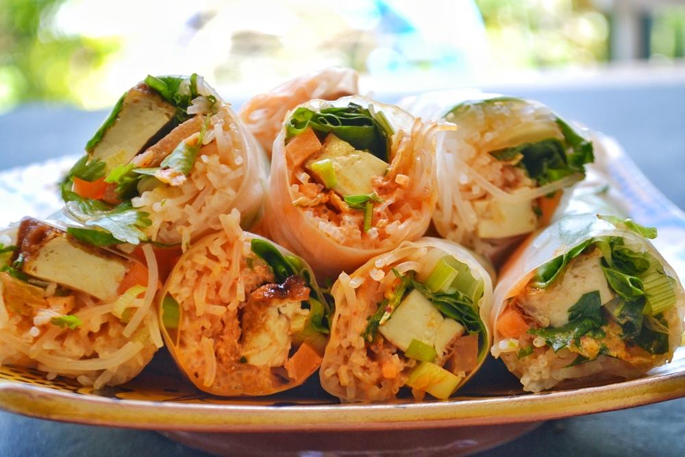 kimchi summer rolls