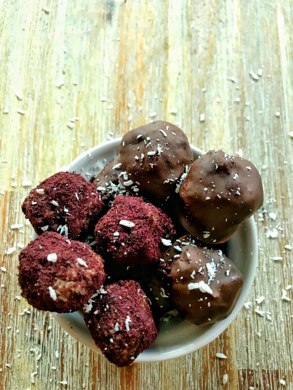 coconut and acai power balls