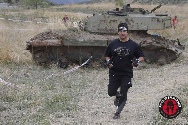 He joined Team MuvLab at the Spartan races at Fort Carson.
